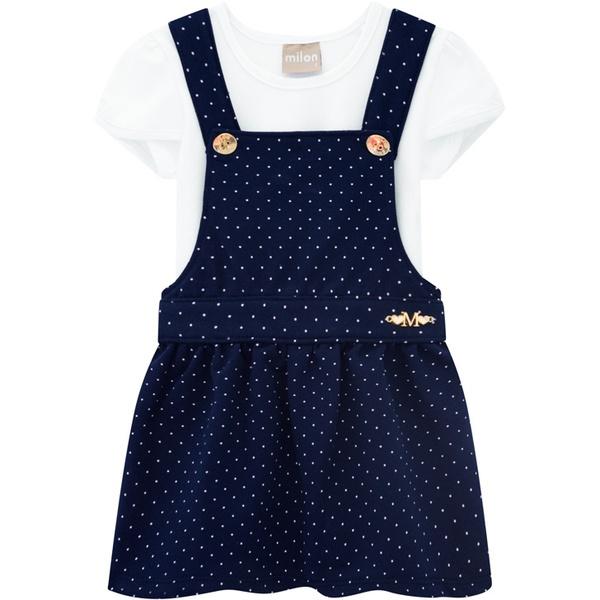 Salopete com Blusa Milon Bebê 1-2-3