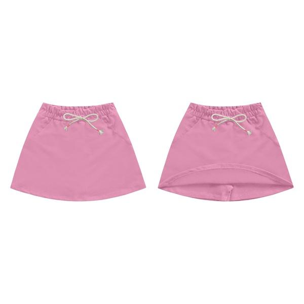 Short Saia Kiko e Kika Infantil Feminino 4 ao 10 - Rosa
