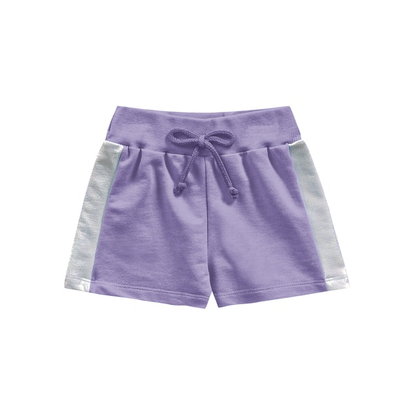 Short Fakini Infantil Feminino 4 ao 10 Lilás