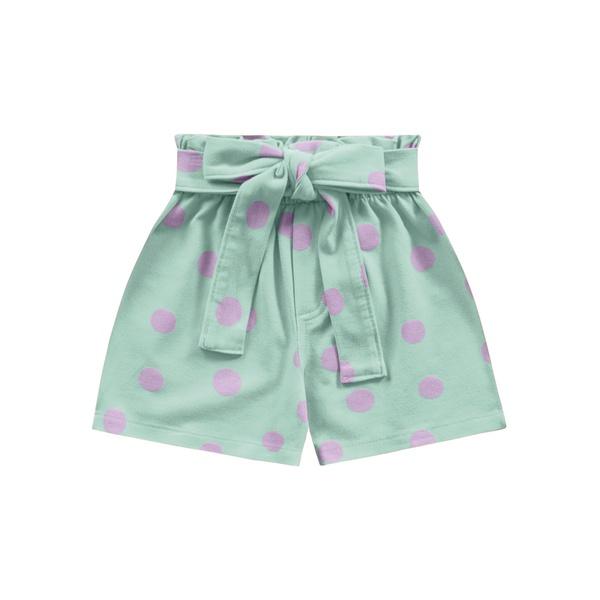 Short Fakini Infantil Feminino 4 ao 10 Verde Claro