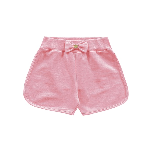 Short Fakini Bebê Feminino 1-2-3 Rosa Neon