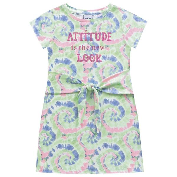 Vestido Fakini Infantil Feminino 4 ao 10 Tie Dye