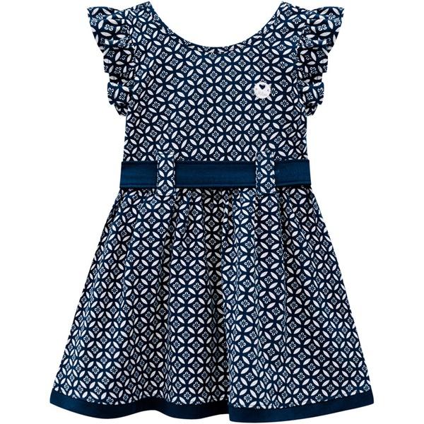 Vestido Milon Bebê Azul Marinho Tamanho 1 ao 3