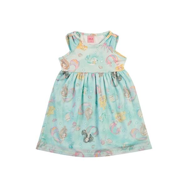 Vestido Dila Bebê Feminino Estampa Sereias