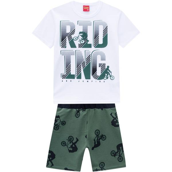 Conjunto Kyly Infantil Masculino Camiseta + Bermuda Moletinho