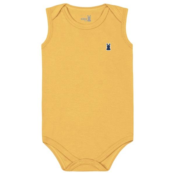 Body Regata Kiko Baby Bebê Masculino RN ao G - Mostarda