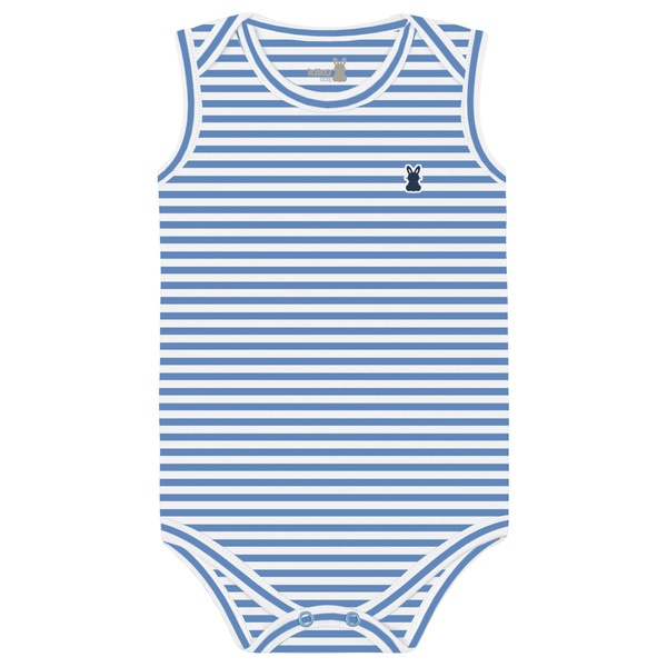 Body Regata Kiko Baby Bebê Masculino RN ao G - Listrado