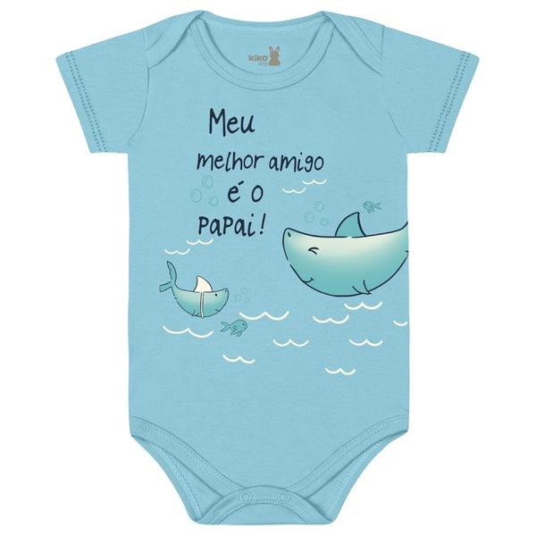 Body Kiko Baby Bebê Masculino RN ao G - Frase Papai