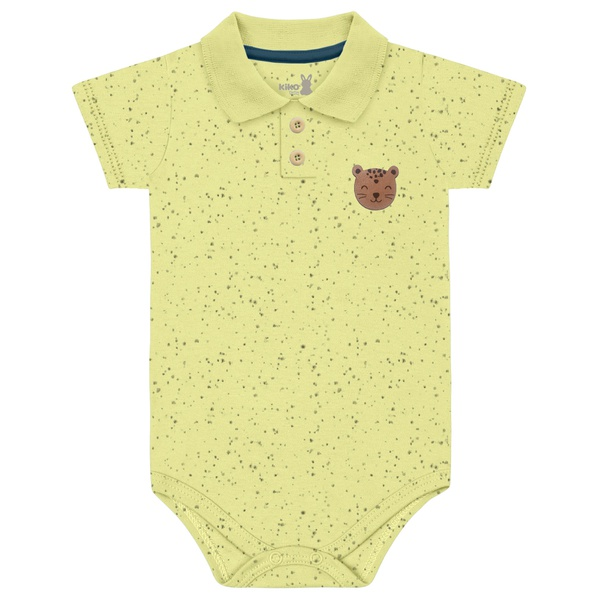 Body Gola Polo Kiko Baby Bebê Masculino RN ao G - Amarelo