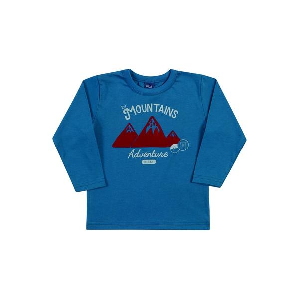 Camiseta Manga Longa Dila Bebê Masculina Tamanho 1-2-3