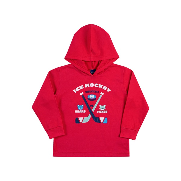 Camiseta Manga Longa Dila Bebê Masculina Vermelha Tamanho 1-2-3