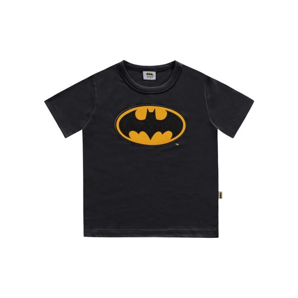 Camiseta Fakini Bebê Masculina 1-2-3 Batman