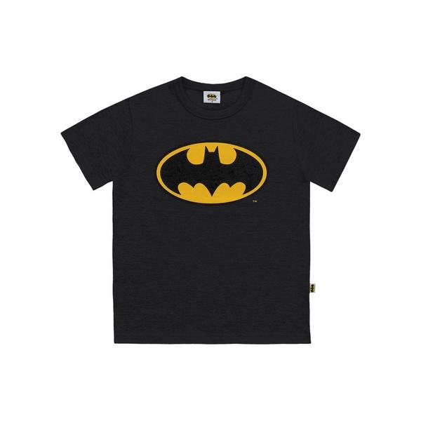 Camiseta Fakini Infantil Masculina 4 ao 10 Batman Preta