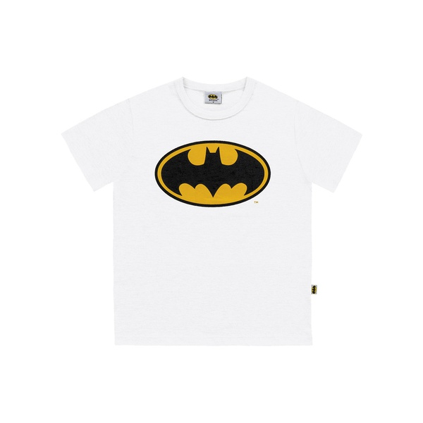 Camiseta Fakini Infantil Masculina 4 ao 10 Batman Branca