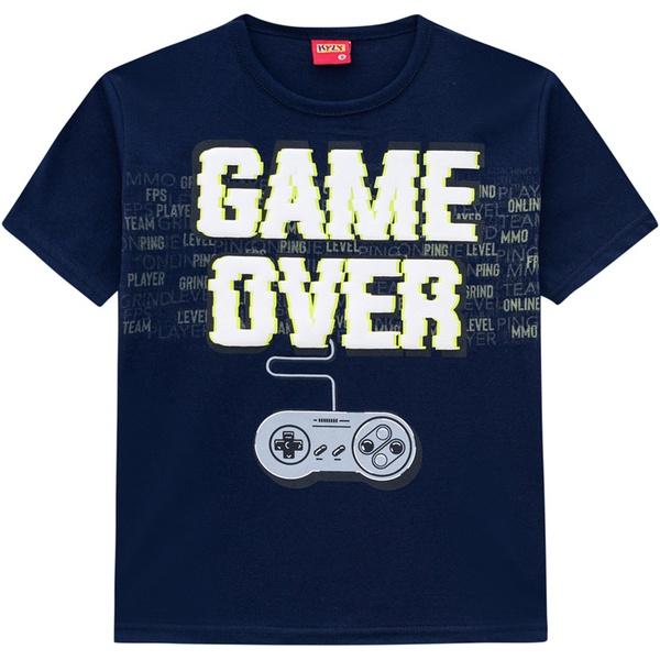 Camiseta Kyly Infantil Masculina Game Over Neon