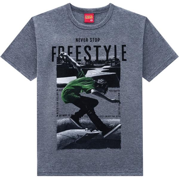 Camiseta Kyly Infantil Masculina Mescla