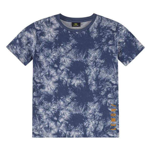 Camiseta Lemon Infantil Masculina 10-12-14 Tie Dye Azul