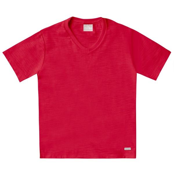 Camiseta Milon Bebê Masculina 1-2-3 Vermelha