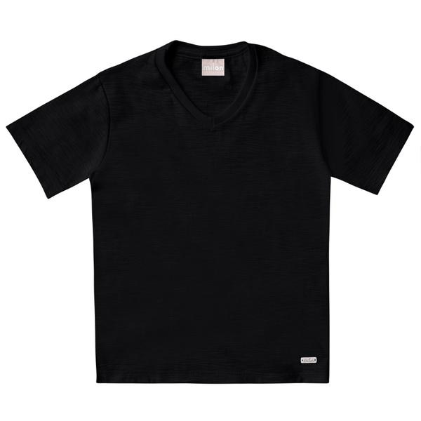 Camiseta Milon Bebê Masculina 1-2-3 Preta