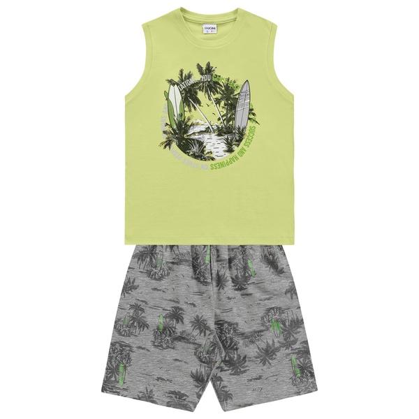 Conjunto Fakini Infantil Masculino 4 ao 10 Verde