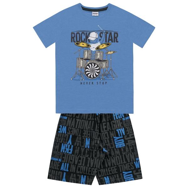 Conjunto Fakini Infantil Masculino 4 ao 10 Azul