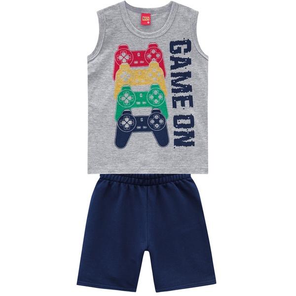 Conjunto Kyly Infantil Masculino Verão Camiseta + Bermuda
