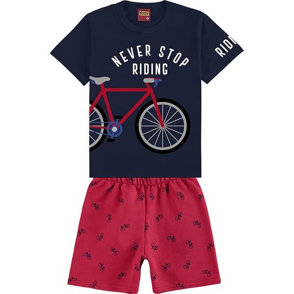 Conjunto Kyly Bebê Masculino Bike 1-2-3