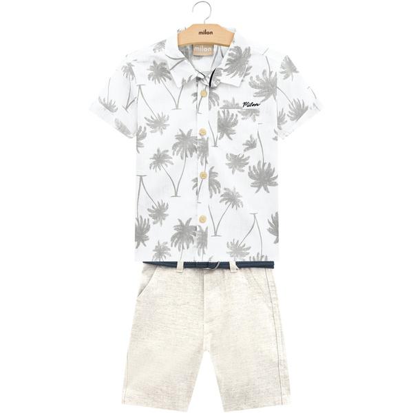 Conjunto Milon Bebê Masculino 1-2-3 Camisa e Bermuda