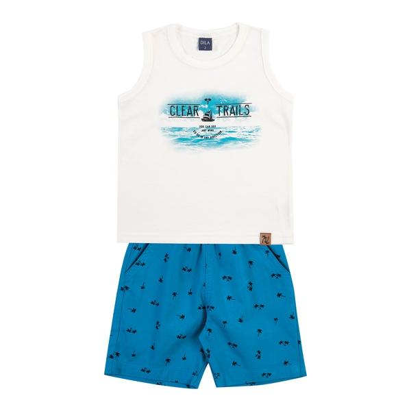 Conjunto Dila Bebê Masculino Bege e Azul