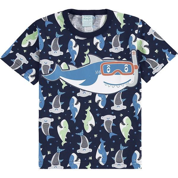 Pijama Kyly Bebê Masculino Tubarão 1-2-3