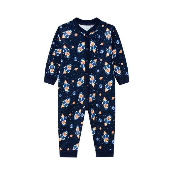 Pijama Macacão Kyly Bebê Masculino Tamanho 1-2-3