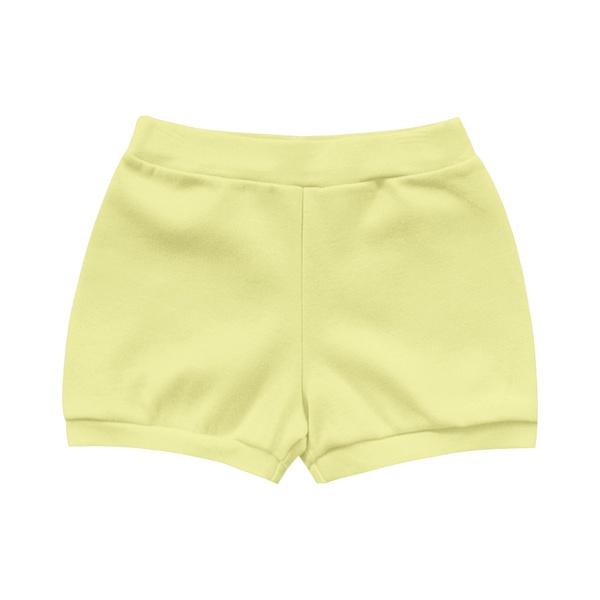 Short Kiko Baby Bebê Masculino RN ao G Amarelo Liso