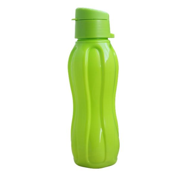 Garrafa plástica água suco resistente academia verde cozinha