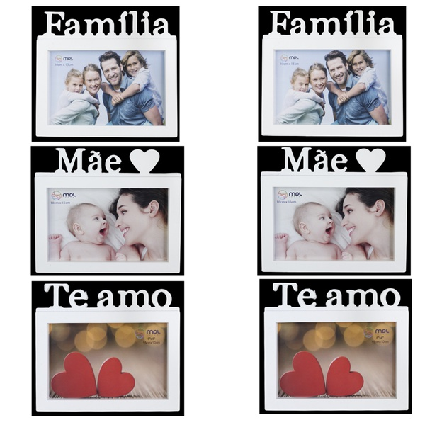 Presente Porta Retrato Branco Família Mãe Casa 6 und 10x15cm