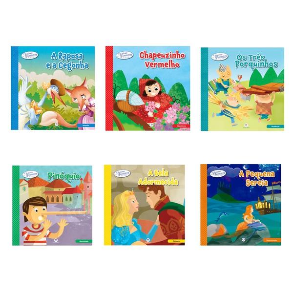 Livros Três Porquinhos Pinóquio A Raposa e a Cegonha k 6 und