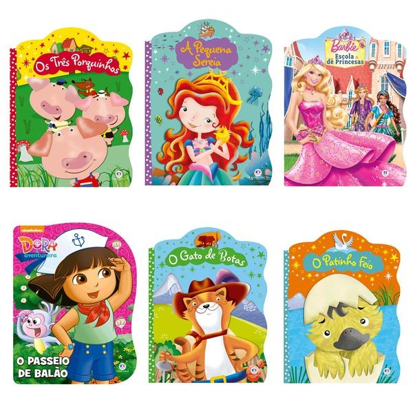 Histórias infantis Clássicas livros 6 unidades crianças