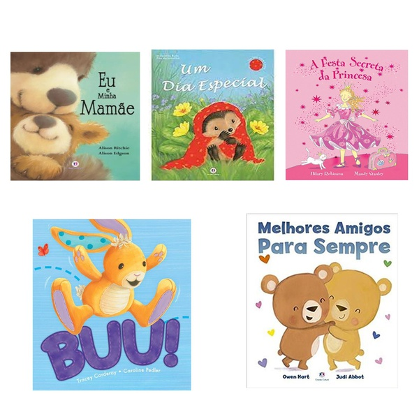 Livros infantis ciranda cultural menina meninos leitura 5 un