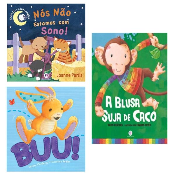 Livros infantis histórias divertidas menino menina ler 3 und
