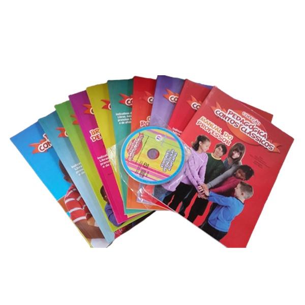 Coleção Pedagógica Contos Clássicos kit 11 livros e CD
