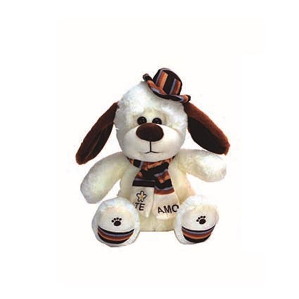 Brinquedo urso pelúcia cãozinho branco