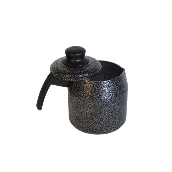 Leiteira fervedor Black craqueada com tampa 1,2 Litros