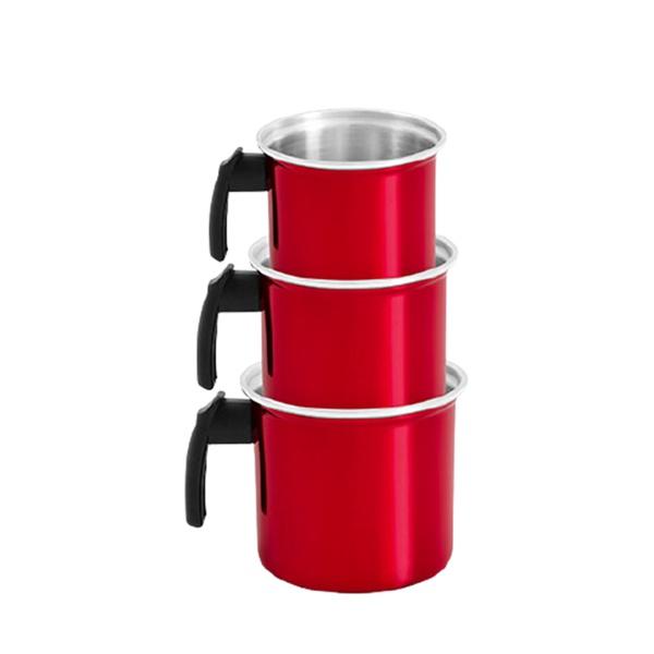 Conjunto de leiteiras master canecão rubi resistente kit 3un
