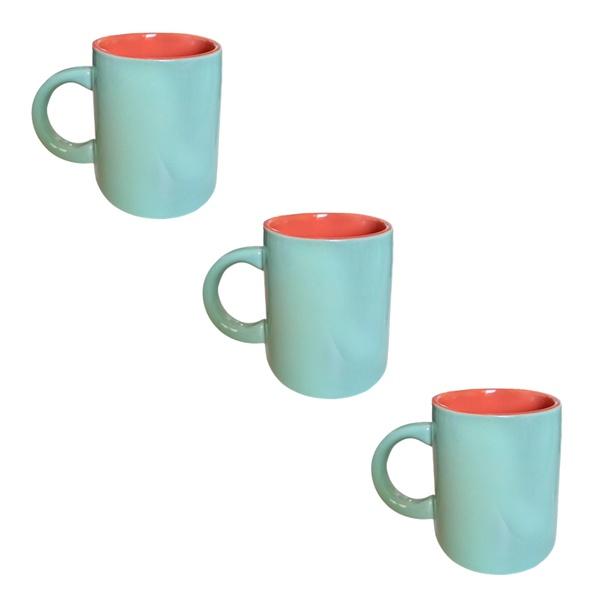 Canecas de porcelana decoração casa cozinha chá café kit 3un
