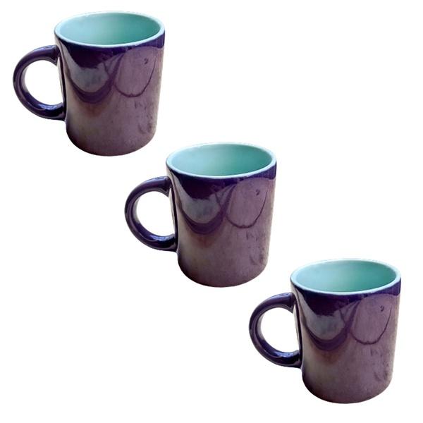 Canecas porcelana café chá leite decoração cozinha casa 3 un