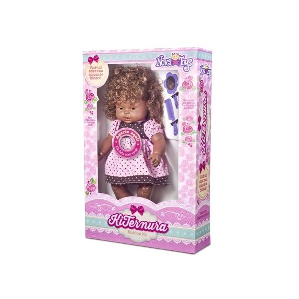 Boneca negra com cabelo