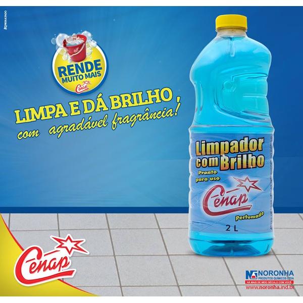 LIMPADOR COM BRILHO CENAP BLUE 6X2L LOJA