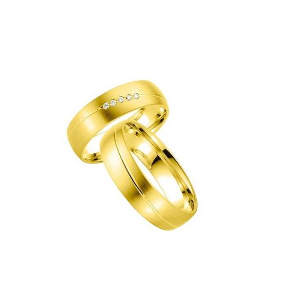 Par de Alianças de Casamento Colónia em Ouro 18k Com Diamante