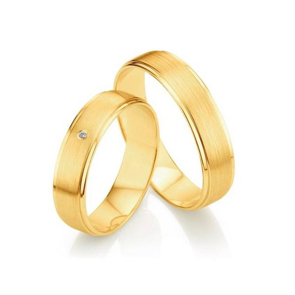 Par de Alianças de Casamento Moscou em Ouro 18k Com Diamante