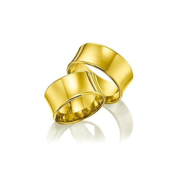 Par de Alianças de Casamento Varna em Ouro 18k