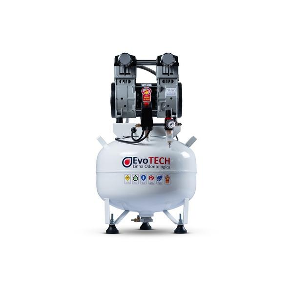 COMPRESSOR ODONTOLÓGICO 40 LTS 2HP - 10 PCM - 290 LTS/MIN 220V-60HZ EVOTECH